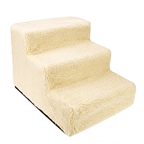 Carpeted Ramp (Flagup Pet Stairs Three-Step Carpeted Pet Step/ Ladder)