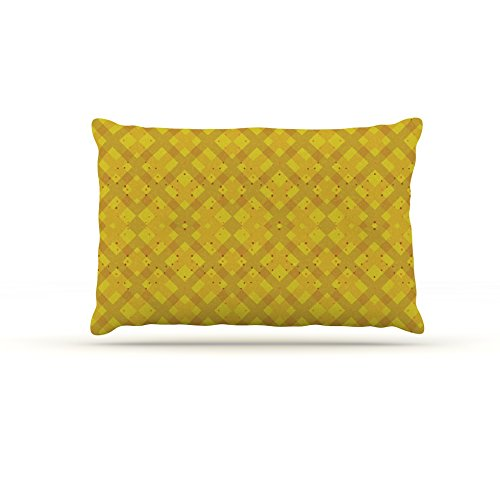 Kess InHouse Mydeas Patio Decor  Yellow Teal Dog Bed, 30 by 40-Inch