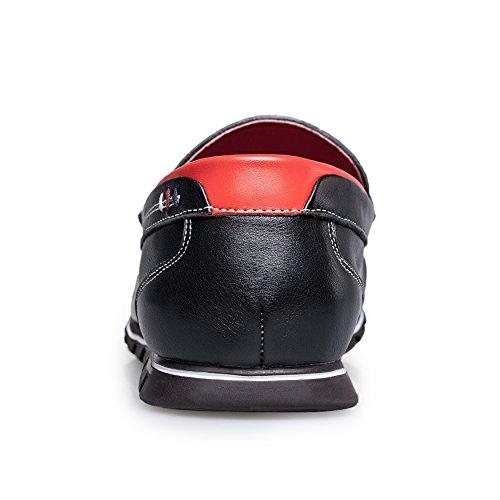 ZRO Men's Classy Penny Slip-on Loafer Driving Shoes Black PGzwDY