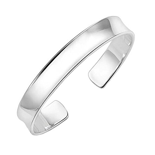 Fashion Hot Sale 925 Silver Polished Cuff Open Bracelet