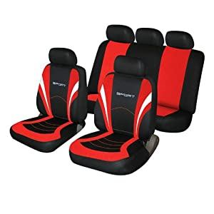 Cosmos 1 Car Seat Covers Red And Black Amazoncouk Car