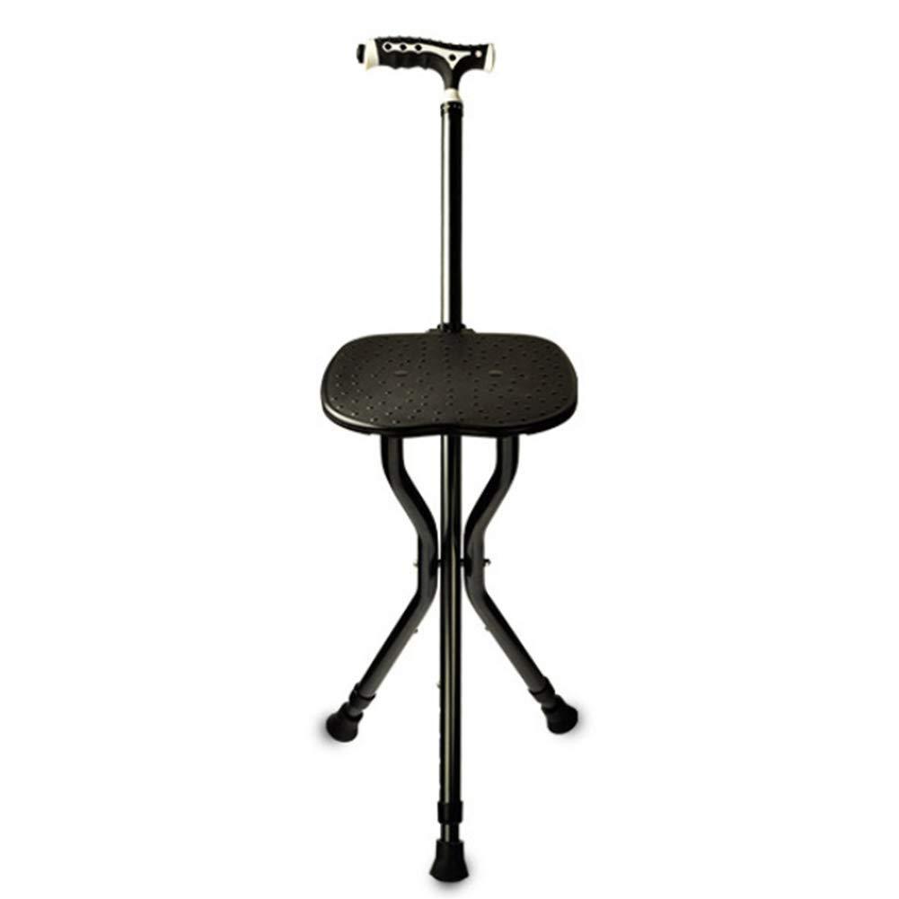 YGUOZ ご両親へのギフト杖と座席、折りたたみ 杖 調節可能な高さ LED照明付き 杖チェア   B07PNNLW9L