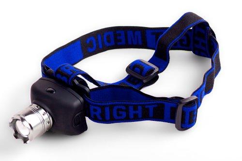 300 Lumen Forehead Bonfire 2.0, 3-Mode UltraBright Cree LED Headlamp, AAA batteries (Headlight For Medic)
