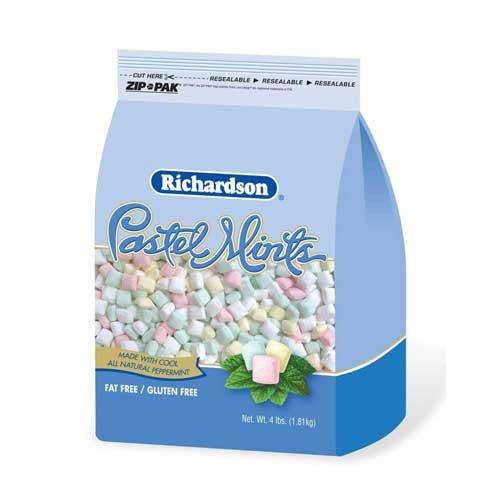Richardson Pastel Mints - 4 lb. stand up bag, 6 per case