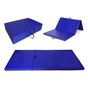 Amazon.com: Wilcum - Alfombrilla de gimnasia con asas para ...