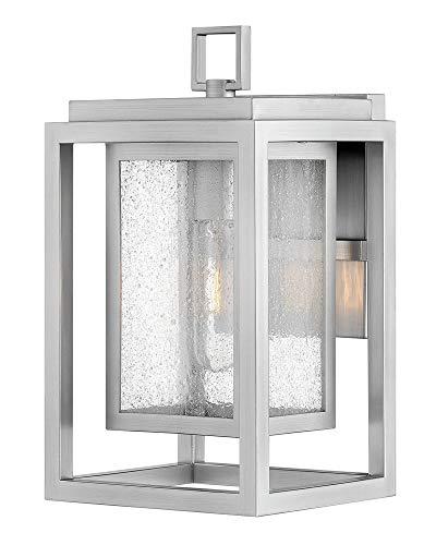 Hinkley 1000SI Republic Outdoor Wall Sconce, 1-Light, 100 Watts, Satin Nickel