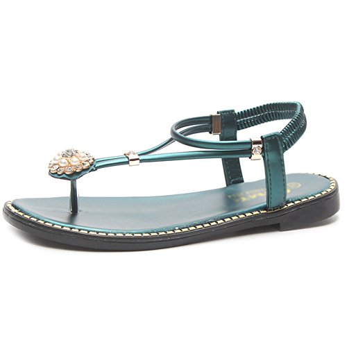 On Green Clip Tangas Rhinestone Shoes Zapatillas Sandals Romanas Flops Señoras Pool Flip Summer Beach Toe Slip Boho BTIwxfxqa