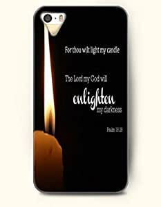 iPhone 5 5S Case OOFIT Phone Hard Case ** NEW ** Case with Design For Thou Wilt Light My Candle The Lord My God Will Enlighten My Darkness Psalm 18:28- Bible Verses - Case for Apple iPhone 5/5s