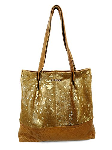 Leather Leather for Brown Large Shouler Soft Bag Capacity Handbag Zerimar oro Women qgdxUzqw