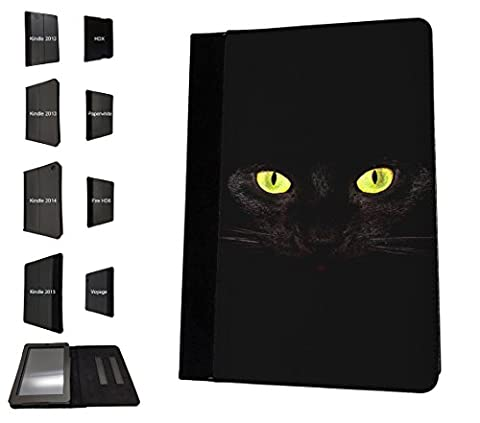 002386 - Cute Cat Eyes Kitten Design Amazon Kindle Fire 8'' 5TH Generation (2015 Release Only) Flip Case Purse Stand (Kindle Case Designer)