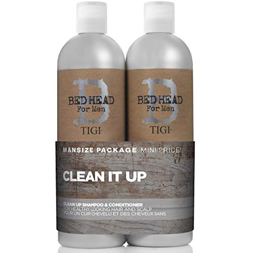 Tigi Bed Head B for Men Clean Up Kit By for Men - 2 Pc Kit 25.36 Oz Shampoo, 25.36 Oz Conditioner, 2count