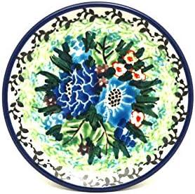 Polish Pottery Bowl Small Shallow Scalloped Unikat Signature U4572