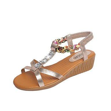 Wome's sandalias Primavera Verano PU Confort vestir casual Chunky tal¨®n US8.5 / EU39 / UK6.5 / CN40