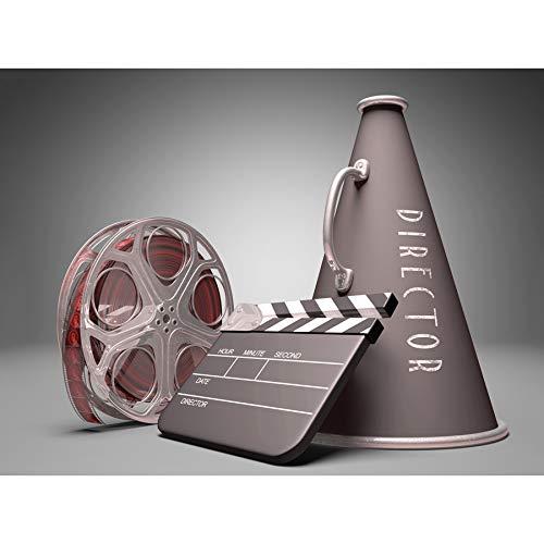 PHOTO FILM DIRECTOR EQUIPMENT CLAPPERBOARD REEL MEGAPHONE ART PRINT -
