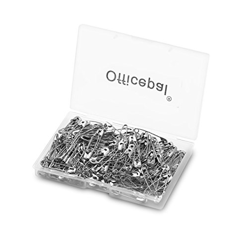 Officepal Premium Quality Safety Pins- Top 200-Count – Durable, Rust-Resistant Nickel Plated Steel Set- Best Sewing Accessories Kit For Baby Clothing, Crafts & Arts (1.06