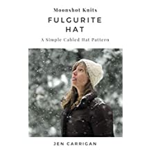 Fulgurite Hat: a cozy, bulky weight hat pattern with a simple cable motif