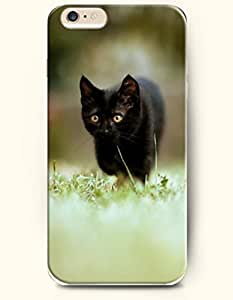 Case Cover For SamSung Galaxy Note 4 Black Cat Walking in the Lawn