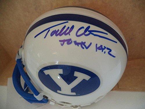 Young Mini Helmet - Todd Christenson Brigham Young Signed Autograph Riddell Mini Helmet Coa - Autographed College Mini Helmets