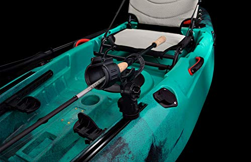 Vibe Kayaks Yellowfin 100 | 10 Foot | Angler Recreational Sit On Top Light Weight Fishing Kayak with Paddle + Adjustable Hero Comfort Seat (Wildfire - Journey Paddle)