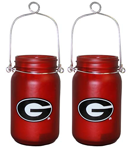 TSA NCAA Georgia Bulldogs LED Mason Jar Lantern 2pk