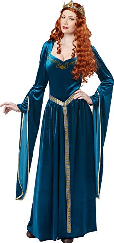 California Costumes Women's Lady Guinevere, Teal, Medium (Ladies Renaissance Shoes)