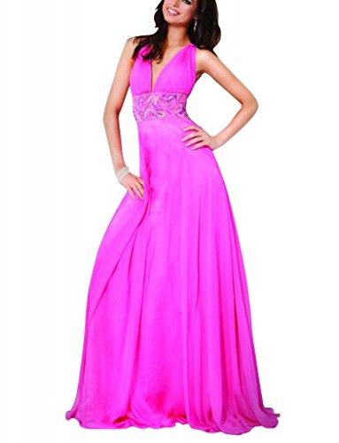 Applikationen bodenlangen Spalte Abendkleid Lila GEORGE V Mantel BRIDE mit Perlen Ausschnitt fTqXwzZX