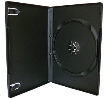 Medios De Visión X 50 Solo Negro 7mm Columna vertebral DVD/CD/BLU RAY Estuche: Amazon.es: Electrónica