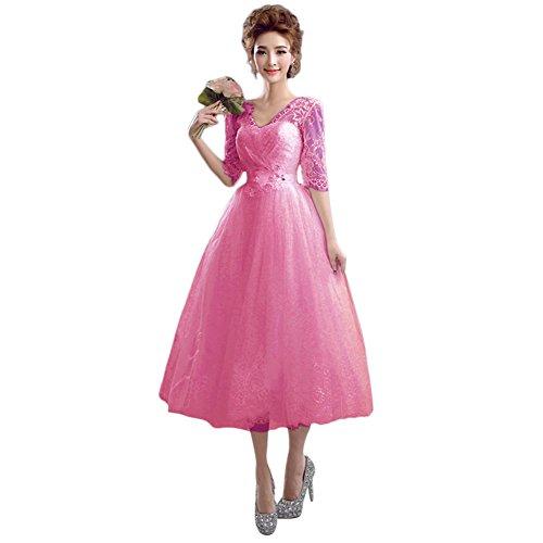 Ad Vimans Pink2 A Linea Donna Vestito 46 66nOSwEr