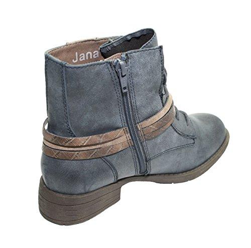 Jana 100% Comfort Stiefeletten Navy 8-25208-27 805 (36)