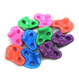 SOFEDY 50Pcs/Set Plastic Textured Climbing Rock Wall Stones Holds for Kid Assorted Color