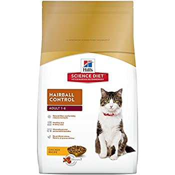 Hill's Science Diet Adult Hairball Control Chicken Recipe Dry Cat Food, 7 lb bag
