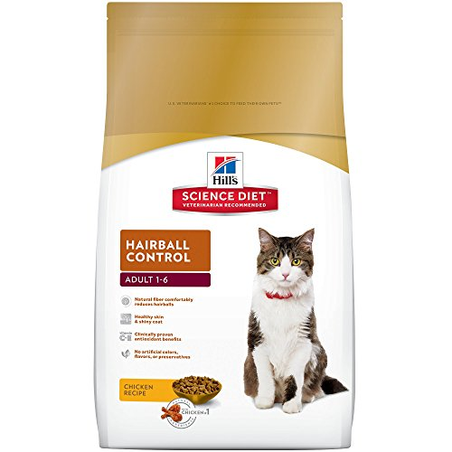 Hill's Science Diet Adult Hairball Control Dry Cat Food 15.5