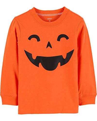 Carter's Boys' Long-Sleeve Halloween Graphic Tee (6, Orange Pumpkin)]()