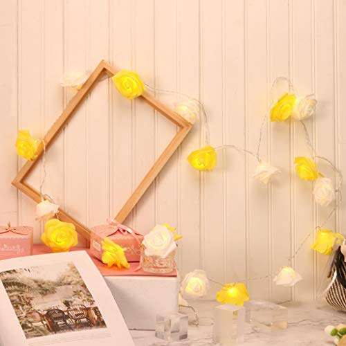 20 Led Romantic Flower Rose Fairy Light, USB Powered Premium Lamp Outdoor for Valentine's Day, Wedding, Room, Garden, Christmass, Patio, Festival Party Decor
