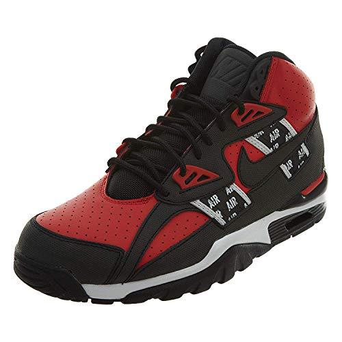 Nike Men's AIR Trainer SC HIGH SOA Shoe Speed RED/Black/White (8 D(M) US) (Nike Sc Trainer High)