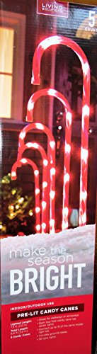 Pre-Lit Candy Cane 5 Count Walkway for Christmas Holiday Decoration