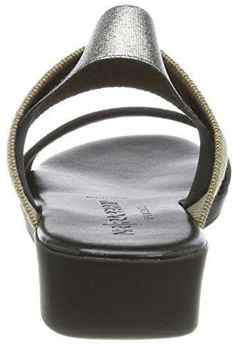 Nr Rapisardi Vrouwen Mambo Slingback Sandalen Zwart (zwart / Beige / Tin)