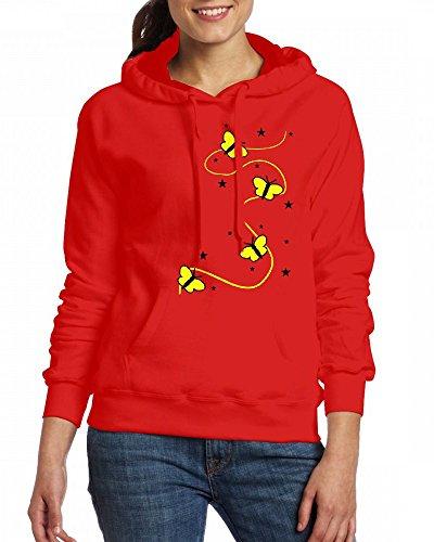 Colors - Butterflies; Stars Butterfly Womens Hoodie Fleece Custom Sweartshirts
