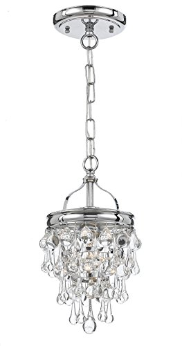 Crystorama 131-CH Crystal One Light Ceiling Mount from Calypso collection in Chrome, Pol. Nckl.finish,