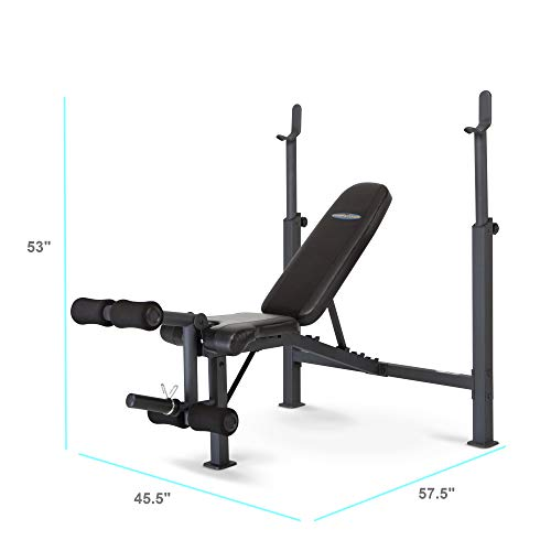 Marcy Competitor Adjustable Olympic Weight Bench with Leg Developer for Weight...
