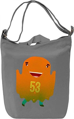 Ghost Bear Hockey Dude Borsa Giornaliera Canvas Canvas Day Bag| 100% Premium Cotton Canvas| DTG Printing|