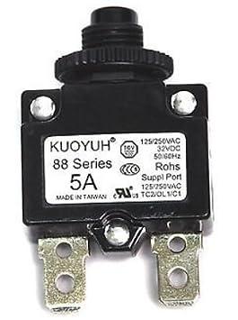 12A 1pc KUOYUH Circuit Breaker 88 series 125//250VAC 50//60Hz
