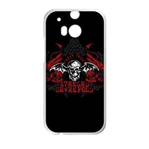 HTC One M8 Cell Phone Case White Avenged Sevenfold EBZ 3D Plastic Cell Phone Case