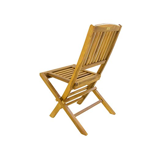 Pack 6 sillas jardín Teca Plegables | Madera Teca Grado A | Tamaño: 51x55x90 cm | Tratamiento al Agua aplicado | Portes Gratis