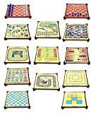 Farraige Latest 13-in-1 Magnetic Games for Family, Chess, Backgammon, Ludo, Tic-Tac-Toe, Snakes & Ladders,Checkers, 9 Men's Morris, Travel Bingo, Football, Space venture, Train chess, Racing Game, Steeplechase