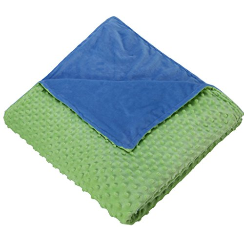 """Royhom Embossed Duvet Covers for Weighted Blanket with Zipper Ties, Blue & Green 60"""" x 80"""""""