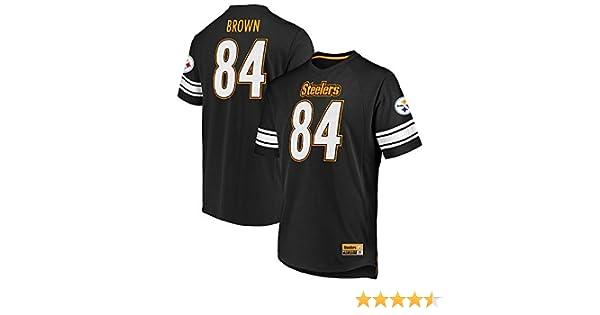 39f348f75cc Amazon.com   Majestic Antonio Brown Pittsburgh Steelers Black Big   Tall  Hashmark Jersey T-Shirt XL Tall   Sports   Outdoors