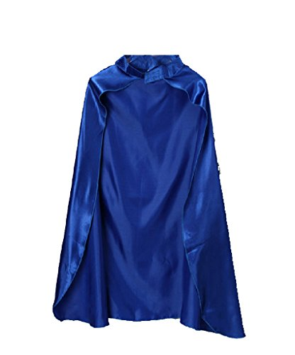 (Unisex Blue Satin Costume Cape 36)