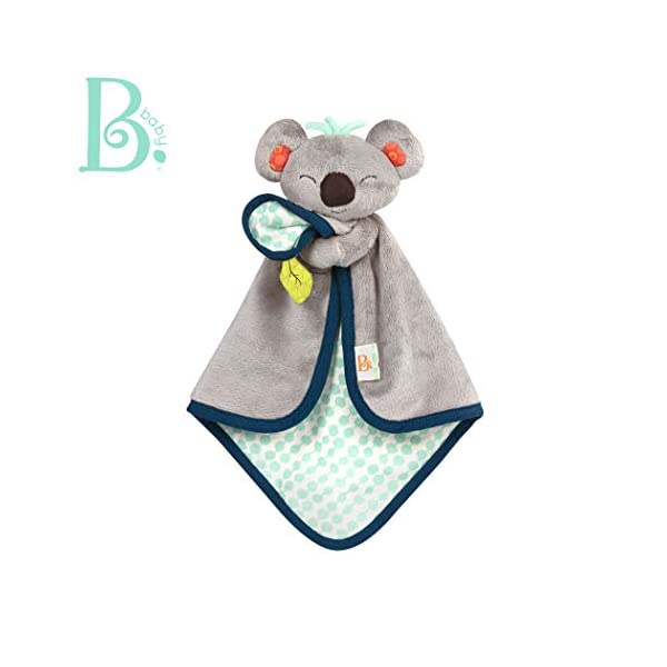 B. Toys – B. Snugglies – Fluffy Koko The Koala Security Blanket – Adorable Baby Blankie with Soft Fabric – Bpa Free
