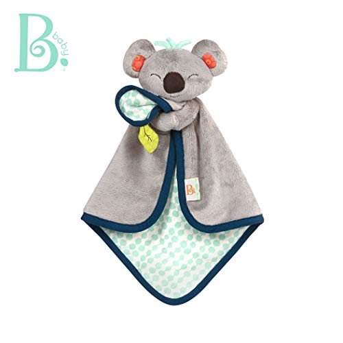 B. Toys - B. Snugglies - Fluffy Koko The Koala Security Blanket - Adorable Baby Blankie with Soft Fabric - Bpa Free (Organic Baby Boy Toys)